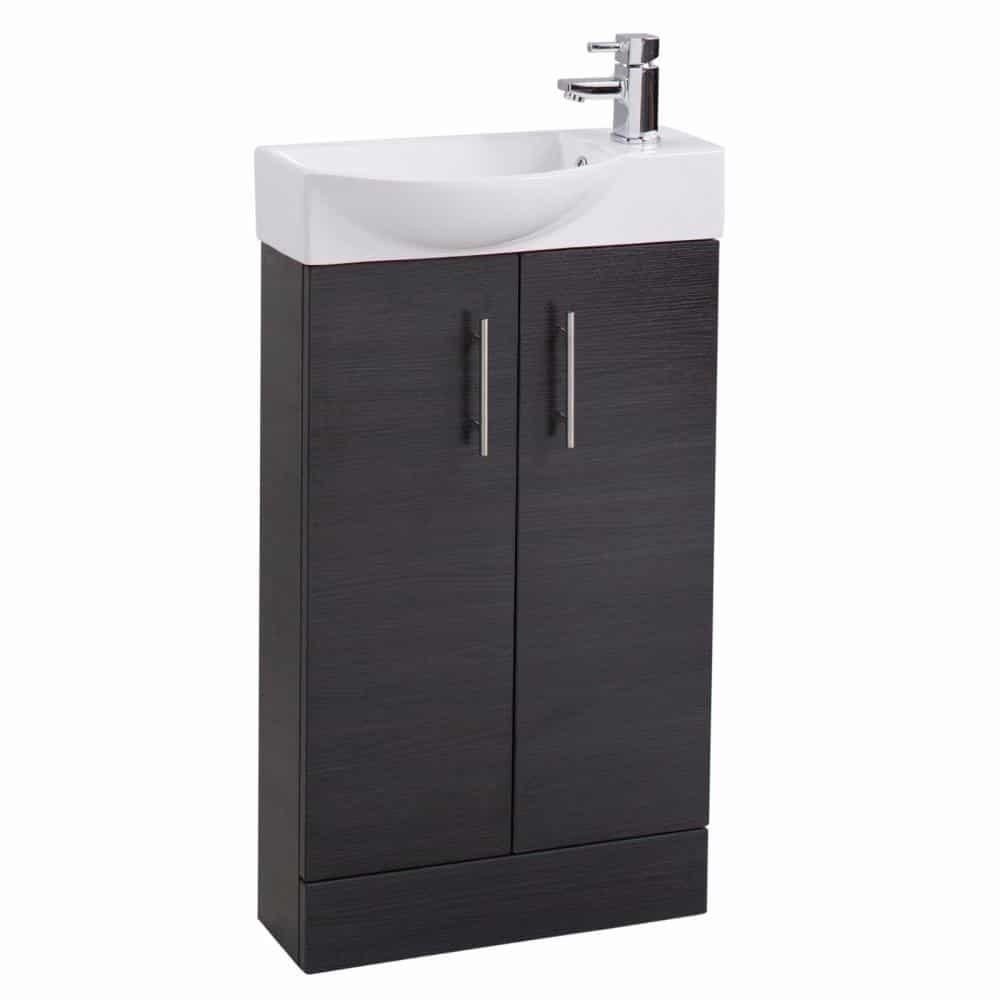 slimline 500 mm modern bathroom vanity basin sink unit. Black Bedroom Furniture Sets. Home Design Ideas