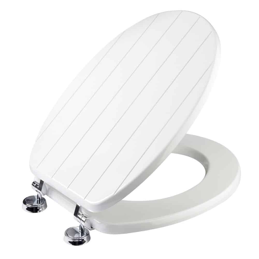 Croydex New England Sit Tight Toilet Seat White Moulded Wood No