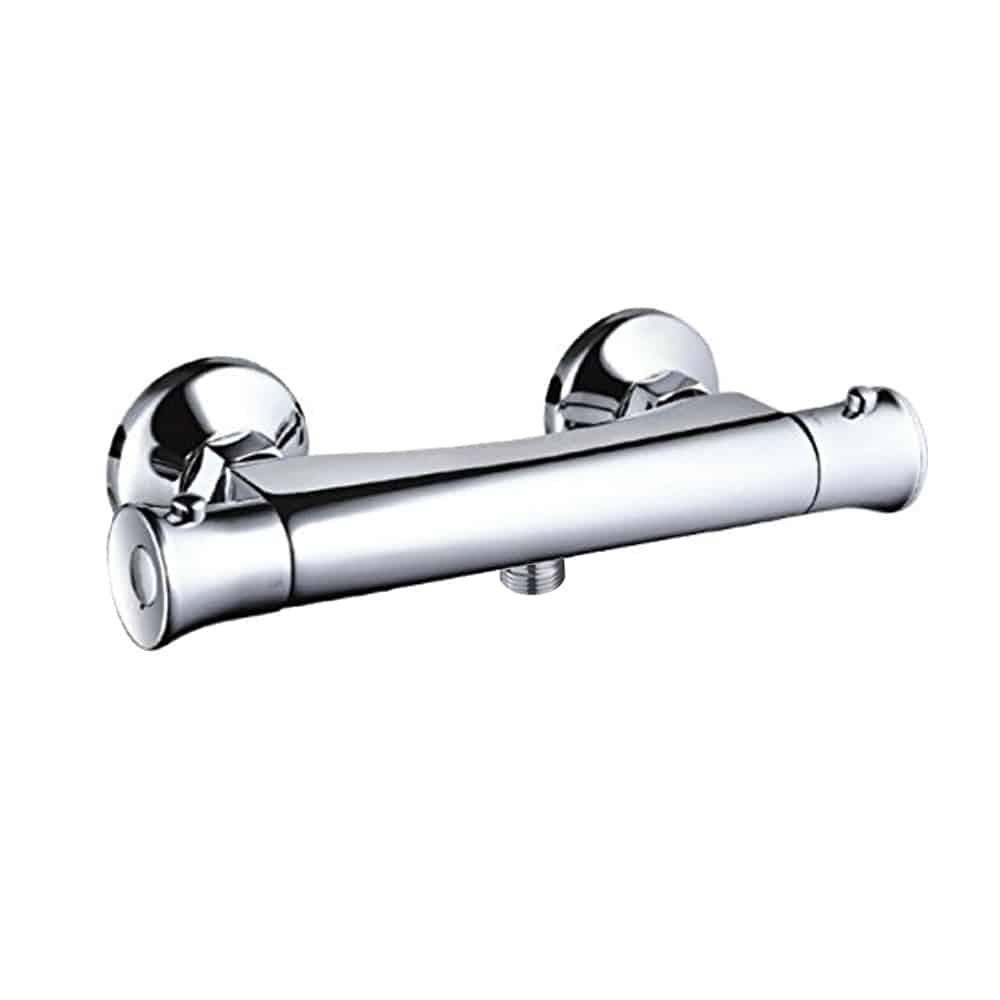 Round Modern Chrome Brass Thermostatic Bar Shower Mixer Valve Tap ...