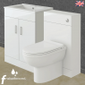 600mm Venus Vanity Unit with 500mm WC Unit & Soft Close Pan