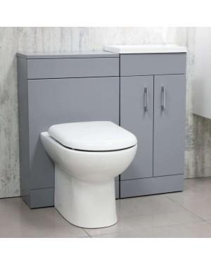 900mm Matt Grey Lomond Vanity Unit With Back to Wall Pan & Cistern