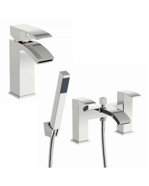 Lucia Basin Mixer Tap & Bath Shower Mixer