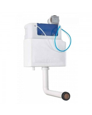 Modern Slimline Concealed Cistern & Square Push Button