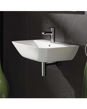 RAK | Modern Square White 40CM Ceramic Wall Hung Bathroom Cloakroom Basin Sink