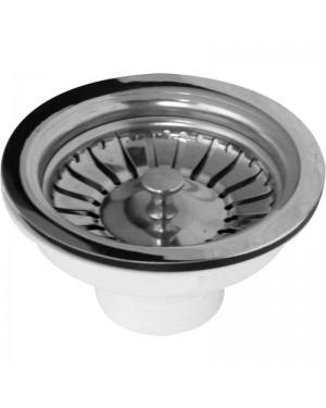 Kitchen Sink  Basket Strainer Waste Replacement Chrome