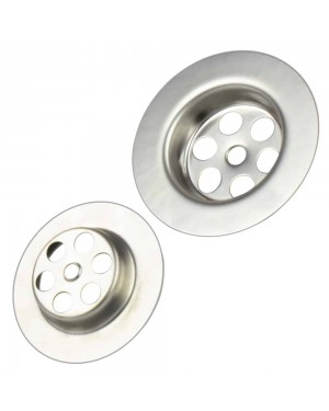 Basin Sink Plug Hole Round Stainless Steel Diameter 63 mm