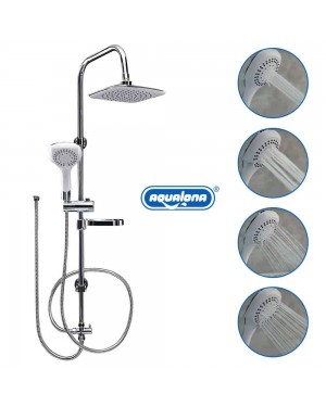 AQUALONA Aquacapri Spa Shower Column Rigid Riser Kit Chrome Modern Diverter