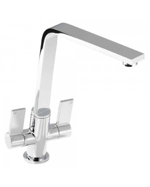 Reginox - Pisa Chrome Mono Kitchen Sink Mixer Tap Dual Lever