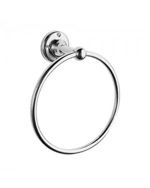 Traditional Chrome Bathroom Accessory Towel Ring Holder Victorian Period Style