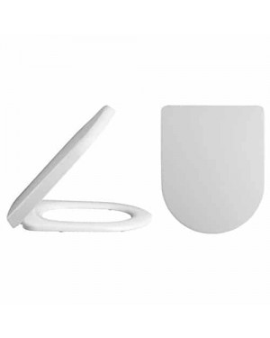 White Luxury D-Shape Quick Release Soft Close Seat,