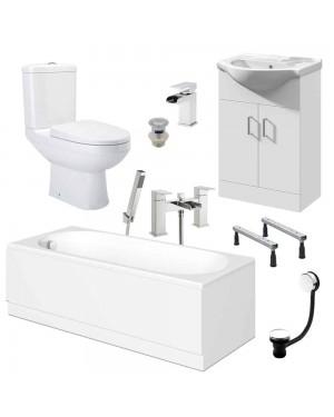 Complete 1700mm Bathroom Suite