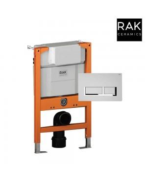 RAK Top/Front Concealed Cistern Frame & Square Flush Plate