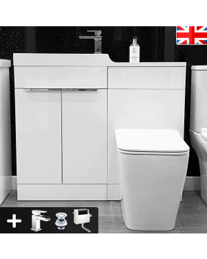 Corelli Compact 1000mm Vanity Unit WC Basin Set