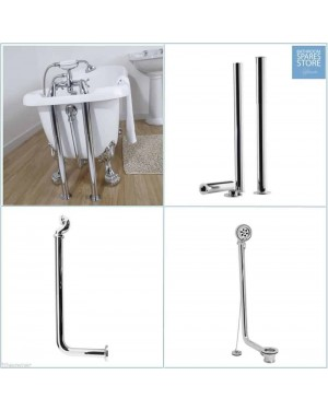 Chrome Freestanding Traditional Bathroom Luxury Roll Top Bath Pack Bath