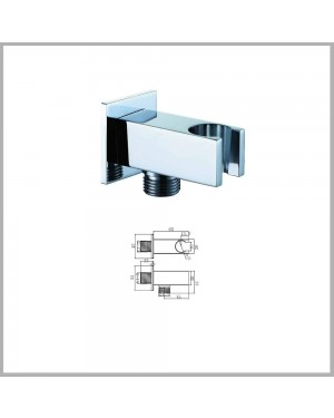 Square Shower Wall Outlet Elbow Chrome