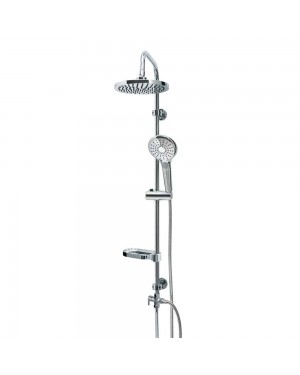 Aqualona Nebula Adjustable Shower Kit Chrome