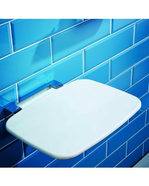 Bathroom Shower Seat Fold Away Modern Disabled Assistance White Heavy Duty