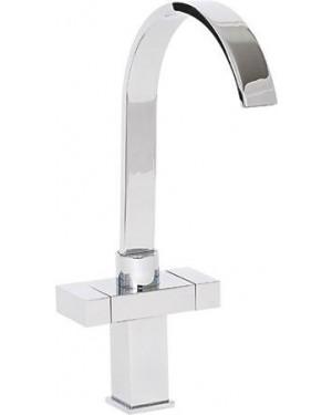 Alliance 13831 Arran Twin Lever Cruciform Kitchen Sink Mixer Tap - Chrome