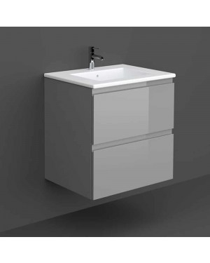 RAK Joy Wall Hung Vanity Unit with Basin Sink 600mm Wide - Urban Grey