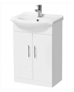 Premier - Mayford Contemporary Floor Standing 450mm Vanity Basin Cabinet Sink & Unit 1 - VTY450