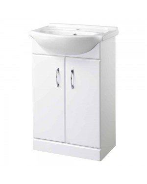 Classic Bathroom Vanity Unit & Basin 550mm Wide High Gloss Finish