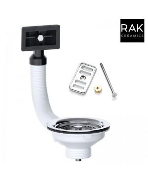 Kitchen Sink Overflow Strainer Waste Kit & RAK Cover Plate