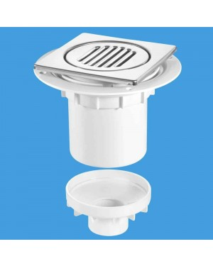 McAlpine TSG2-T150SS Vertical 110mm Wet Room Tiled Floor Shower Waste Gully Trap