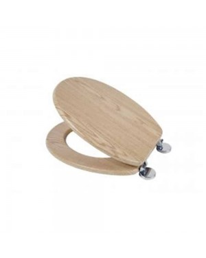 Croydex Geneva Toilet Seat Oak Effect Wood