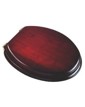 Croydex Realwood Toilet Seat - Mahogany Finish