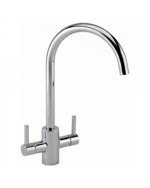 Reginox - Genesis Chrome Mono Kitchen Sink Mixer Tap Dual Lever