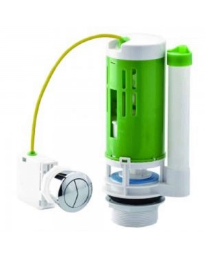 Croydex Universal Toilet Cistern Flush Valve with Dual Button Cable Kit