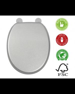 Croydex Silver Quartz Toilet Seat Chrome Hinges