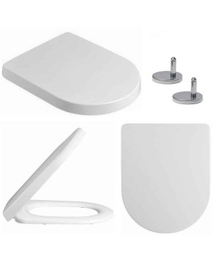 Soft Close D Shape Toilet Seat adjustable fittings