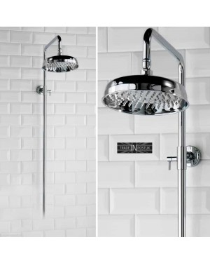 Rigid Riser Shower Rail Luxury Chrome Traditional Victorian Style Solid Brass