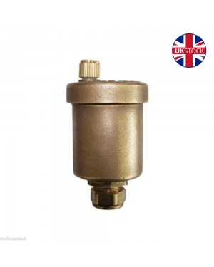 BRASS AUTOMATIC AUTO BOTTLE AIR VENT 15MM COMPRESSION AIRVENT VALVE