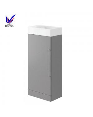 Luxury Compact Cloakroom Basin/Sink Vanity Unit in Matt Dove Grey