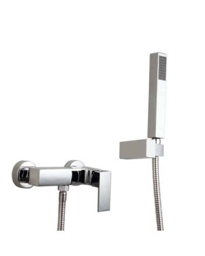 Elda Square Shower Mixer Tap & Handset Kit