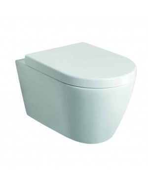 Luxury Modern Jura Wall Hung Pan & Seat White