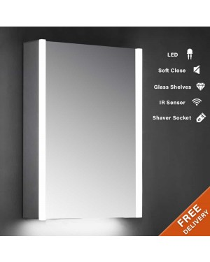 700x500mm Side Strip LED Mirror  Cabinet