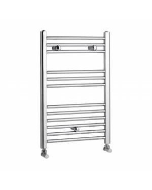 Modern Chrome Flat Bathroom Heated Towel Radiator Rail 760mm x 500mm