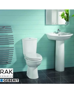 RAK Karla Close Coupled Toilet & Full Pedestal Basin