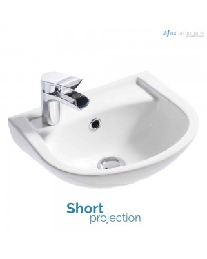 Compact White Cloakroom Wall Hung Mounted Bathroom Basin Sink Ceramic 360mm