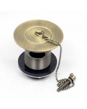 Brass Kitchen Sink Waste Plug & Chain