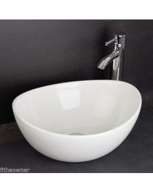Countertop 390mm Bathroom Shell Countertop Freestanding Basin Bowl