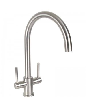 Modern TW Dava Stainless Steel Kitchen Sink Mixer Tap Monobloc Swivel Spout