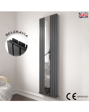 Belgravia 6 Panel Mirrored Radiator Anthracite