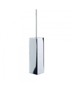 Metal Bathroom Toilet Light Pull Square Cube Modern Design Chrome