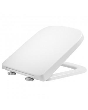 RAK Series 600 Short Projection Soft Close Toilet Seat White Square Wrapover