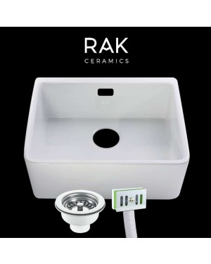 RAK Ceramic Belfast Kitchen Sink & Overflow Waste