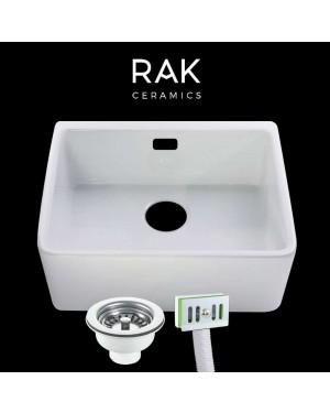 RAK Ceramic Belfast Kitchen Sink & Overflow Waste